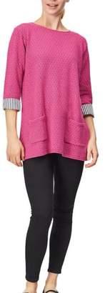 Margaret Winters Raspberry Cotton Tunic
