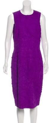 Michael Kors Silk-Blend Textured Dress