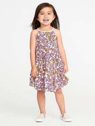 Old Navy Tiered Braided-Strap Swing Dress