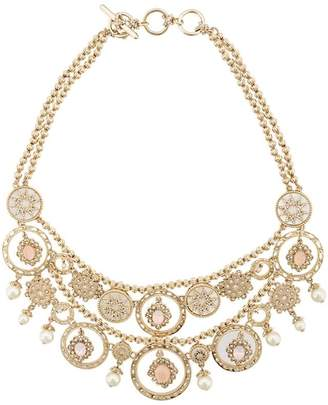 Marchesa faux pearl and crystal collar