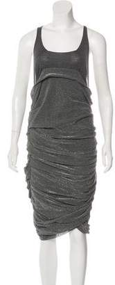 Balmain Metallic Ruffled Dress