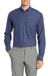 Eton Flanella Contemporary Fit Solid Dress Shirt