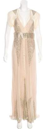 Anna Sui Sequined Mesh Gown