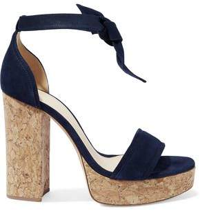 Alexandre Birman Celine Suede And Cork Platform Sandals
