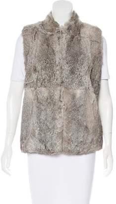 Matthew Williamson Fur Stand Collar Vest