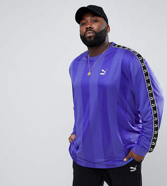 Puma PLUS Long Sleeve Tape Soccer Top In Purple Exclusive To ASOS