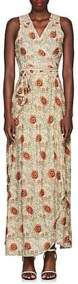 Natalie Martin Women's Danika Floral Maxi Wrap Dress - Cream
