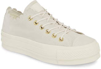 Converse Chuck Taylor(R) All Star(R) Frilly Scallop Platform Sneaker