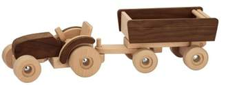 Goki Wooden Tractor with Trailer