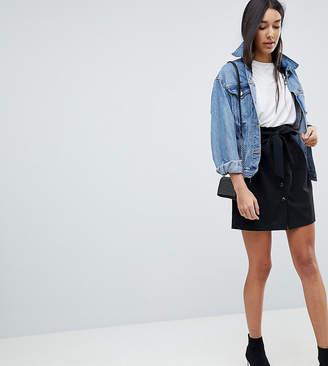 Asos Tall TALL Tailored Paper Bag Waist Mini Skirt