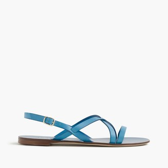 Strappy leather sandals $98 thestylecure.com