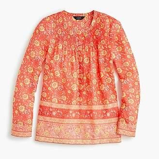 J.Crew Cotton voile popover shirt in floral block print