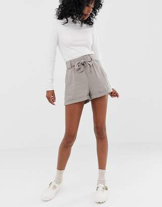 Minimum Moves By tie waist shorts