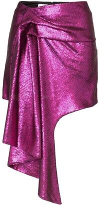 Halpern asymmetric hem mini skirt