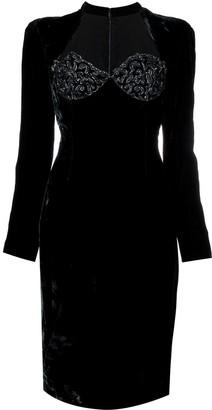 Jean Louis Scherrer Pre-Owned long-sleeve fitted dress
