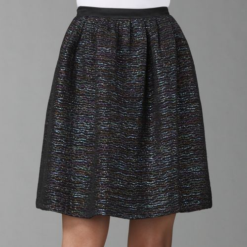 Peter Som Sparkle Voile Pleated Skirt