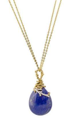 Michael Aram 18k Enchanted Forest Wrap Necklace w/ Lapis & Diamonds