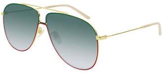 Gucci Gradient Aviator Sunglasses