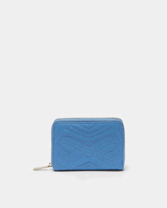 Ted Baker ROMMA Quilted bow small leather purse