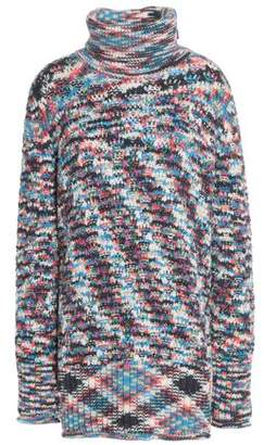 Missoni Crochet-Knit Cashmere Turtleneck Sweater