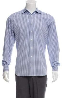 Prada Checkered Button-Up Shirt