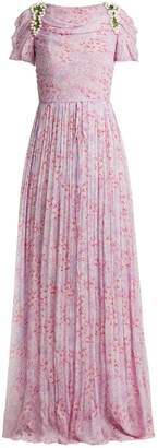 Carolina Herrera Wildflower-print silk-chiffon gown