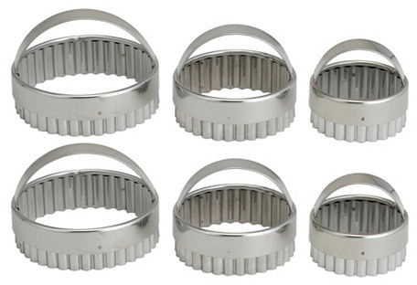 S/6 Assorted Crinkle Cookie Cutters
