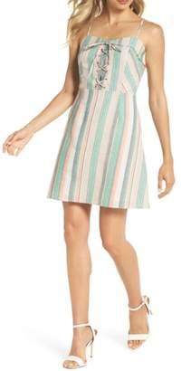 NSR Stripe Lace-Up Minidress