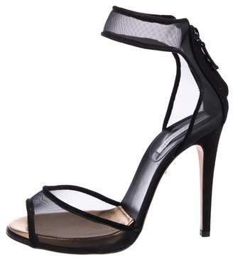 Diane von Furstenberg Mesh High Heel Sandals