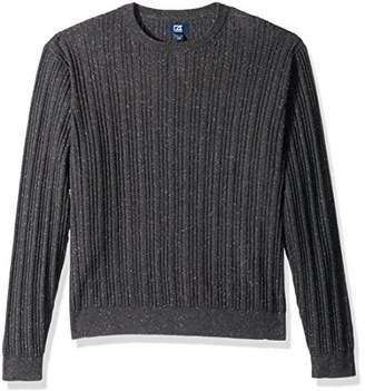 Cutter & Buck Men's Long Sleeve Carlton Cable Knit Crewneck Sweater
