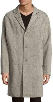 Calvin Klein Speckled Oversize Crombie Coat