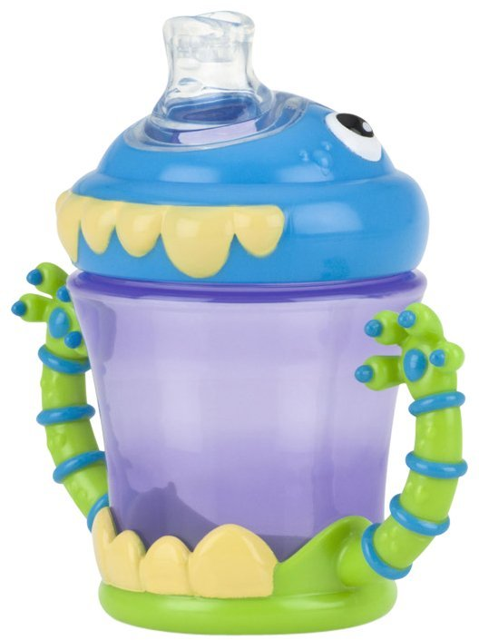 Nuby No-Spill Spout Cup - 3-D Monster - 7 oz