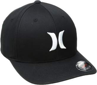 Hurley Mens One and Only Flex Fit Cap S/M Black