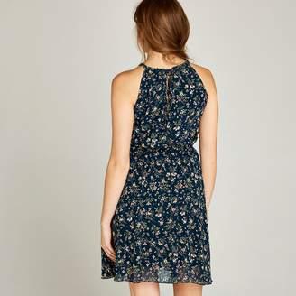 477e193efb1 Apricot Navy Ditsy Floral Tea Dress