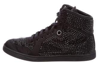 Gucci Embellished High-Top Sneakers