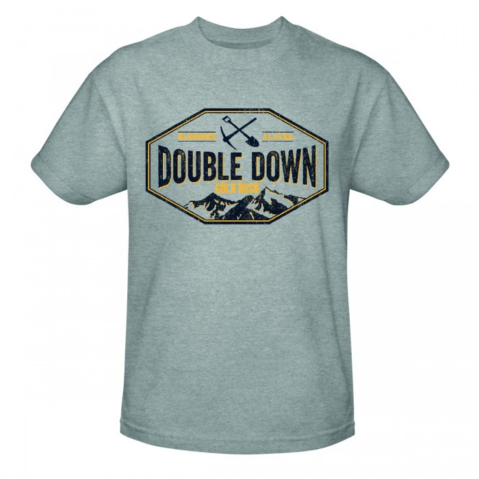 Discovery Gold Rush Double Down T-Shirt - Heather Grey