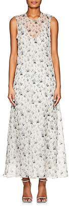 Calvin Klein WOMEN'S FLORAL SILK CHIFFON MAXI DRESS