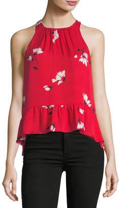 Joie Ayame Floral-Print Sleeveless Silk Top