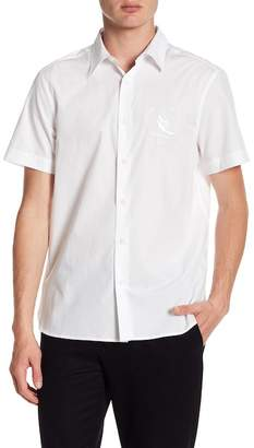 Perry Ellis Embroidered Short Sleeve Regular Fit Shirt