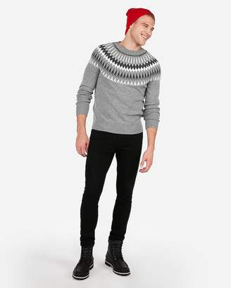 Express Fair Isle Crew Neck Sweater