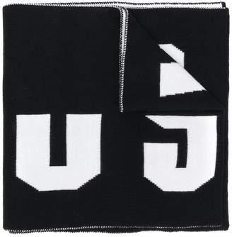 Versus logo intarsia scarf