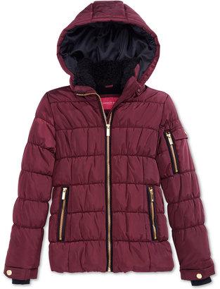London Fog Puffer Coat with Fleece Lining, Big Girls (7-16) $95 thestylecure.com