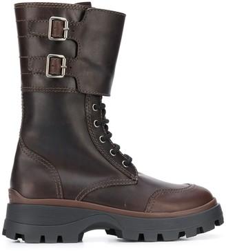 Miu Miu buckled military boots
