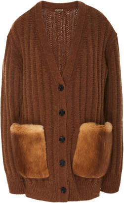 ADAM by Adam Lippes Oversized Wool-Cashmere Cardigan
