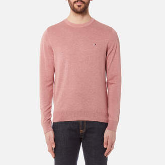 Tommy Hilfiger Men's Plaited Cotton/Silk Crew Neck Knit Jumper