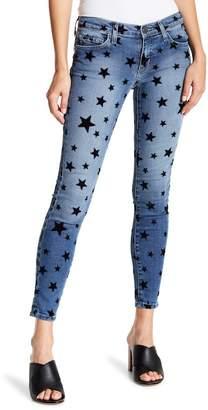 Current/Elliott The Stiletto Flocked Star Ankle Jeans