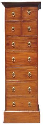9 Drawer Cabinet Finish: Mahogany