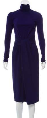 Vionnet Long Sleeve Midi Dress w/ Tags
