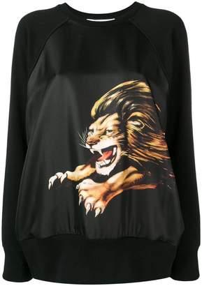 Givenchy Lion print contrast back sweatshirt