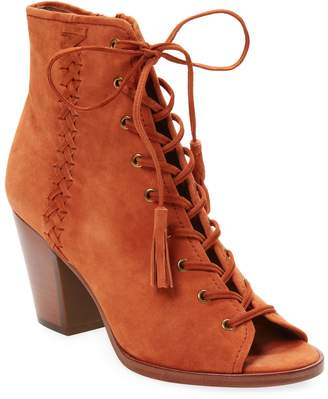 Frye Women's Dani Whipstitch Lace Leather Bootie